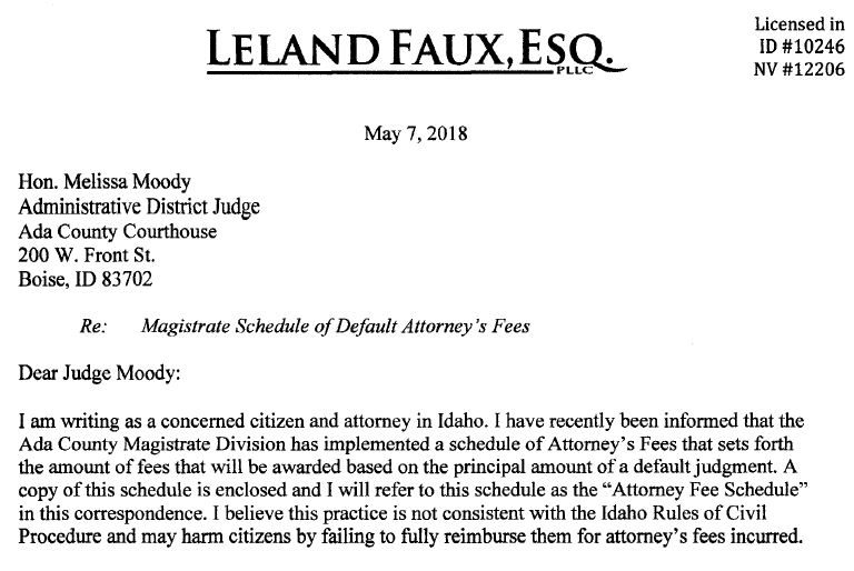 Letter to Judge